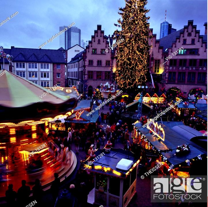 Weihnachtsmarkt Frankfurt Main.Weihnachtsmarkt Am Römer In Frankfurt Am Main Hessen Deutschland
