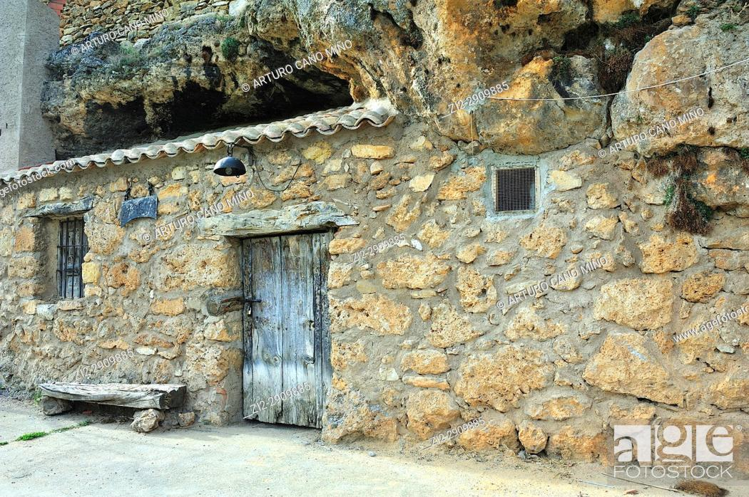 Stock Photo: Chaorna town, Soria province, Spain, Castile-Leon, Soria province,.