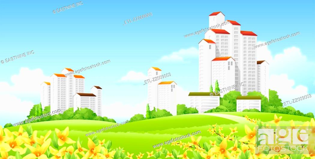 Stock Photo: Low angle view of buildings.