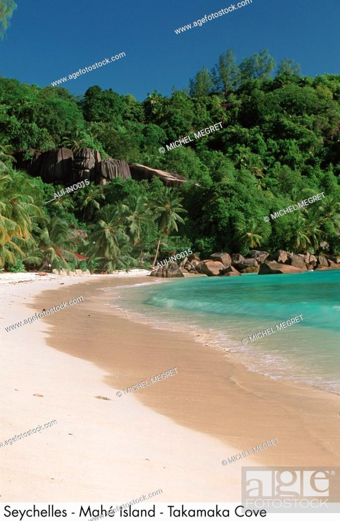 Stock Photo: Seychelles - Mahe Island - Takamaka Cove.