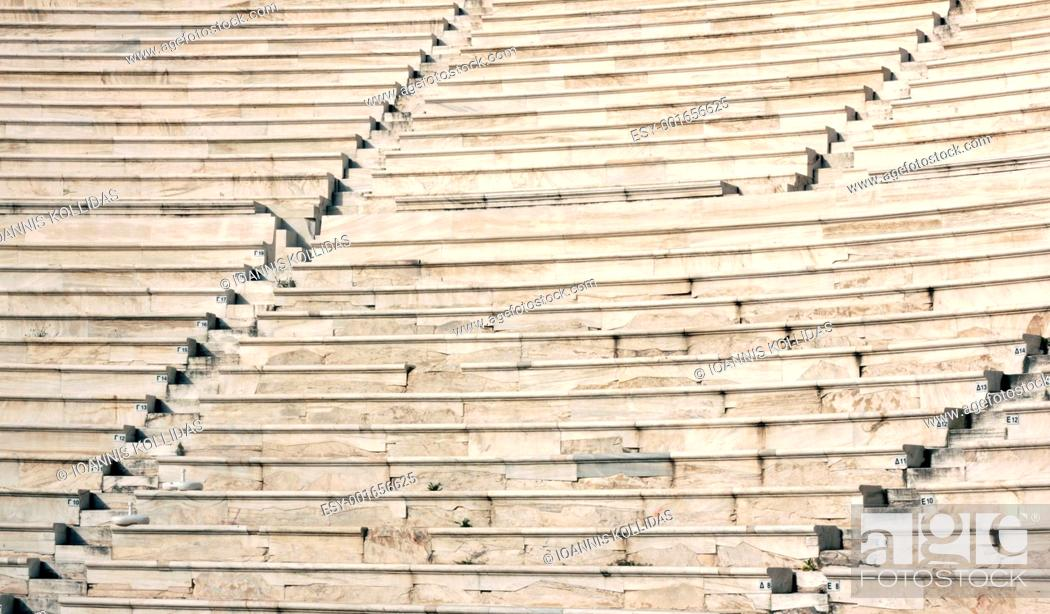 Stock Photo: Ancient theater of Acropolis.