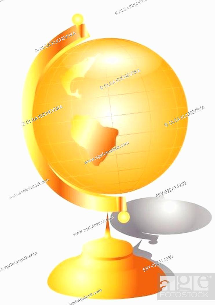 Stock Vector: golden globes.