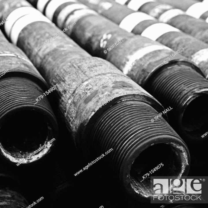 Stock Photo: Pipe for oil rig.