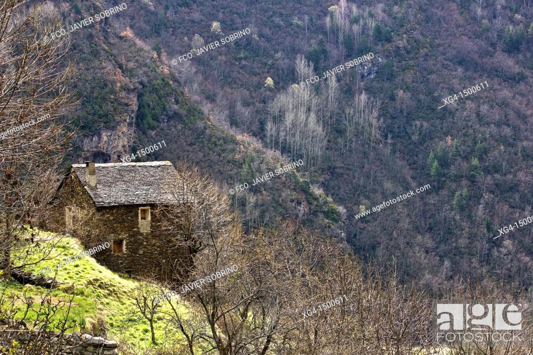 Stock Photo: Borda Cardet - Vall de Boi - Pyrenees - Lleida Province - Catalonia - Cataluña - Catalunya - Spain.