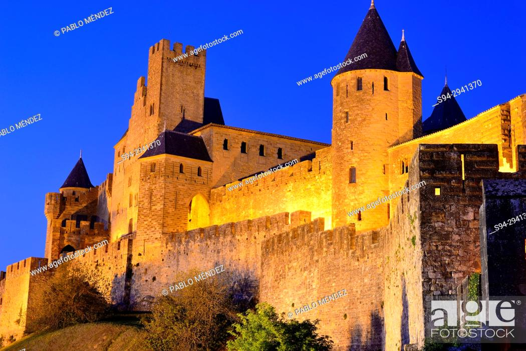 Stock Photo: Fortified city of Carcassone, Languedoc-Rousillon, France.