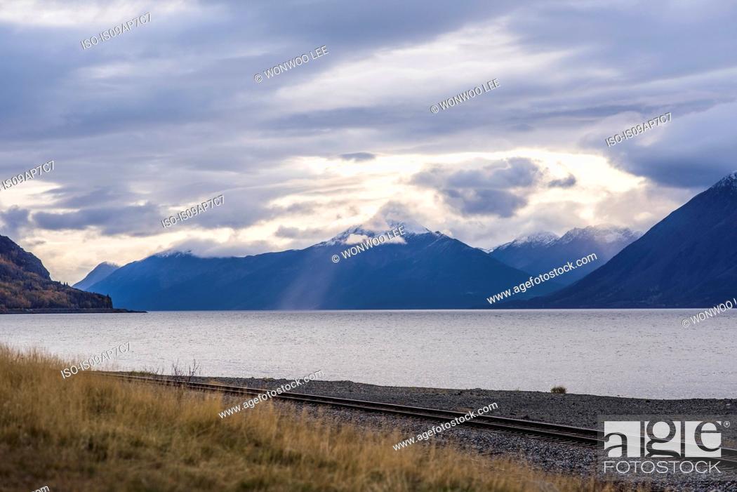 Photo de stock: Landscape of Anchorage, Alaska, USA.