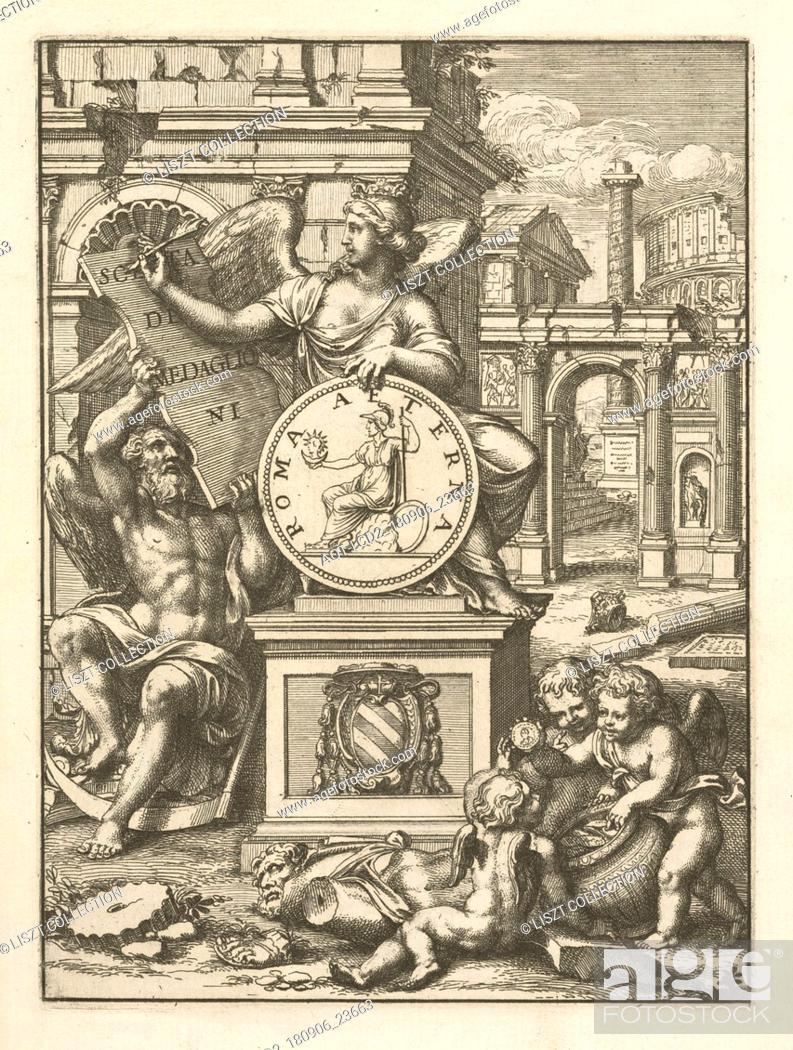 Stock Photo: Frontispiece, Scelta de medaglioni piu rari nella bibliotheca dell' eminentiss. et reverendiss. principe il signor cardinale Gasparo Carpegna.