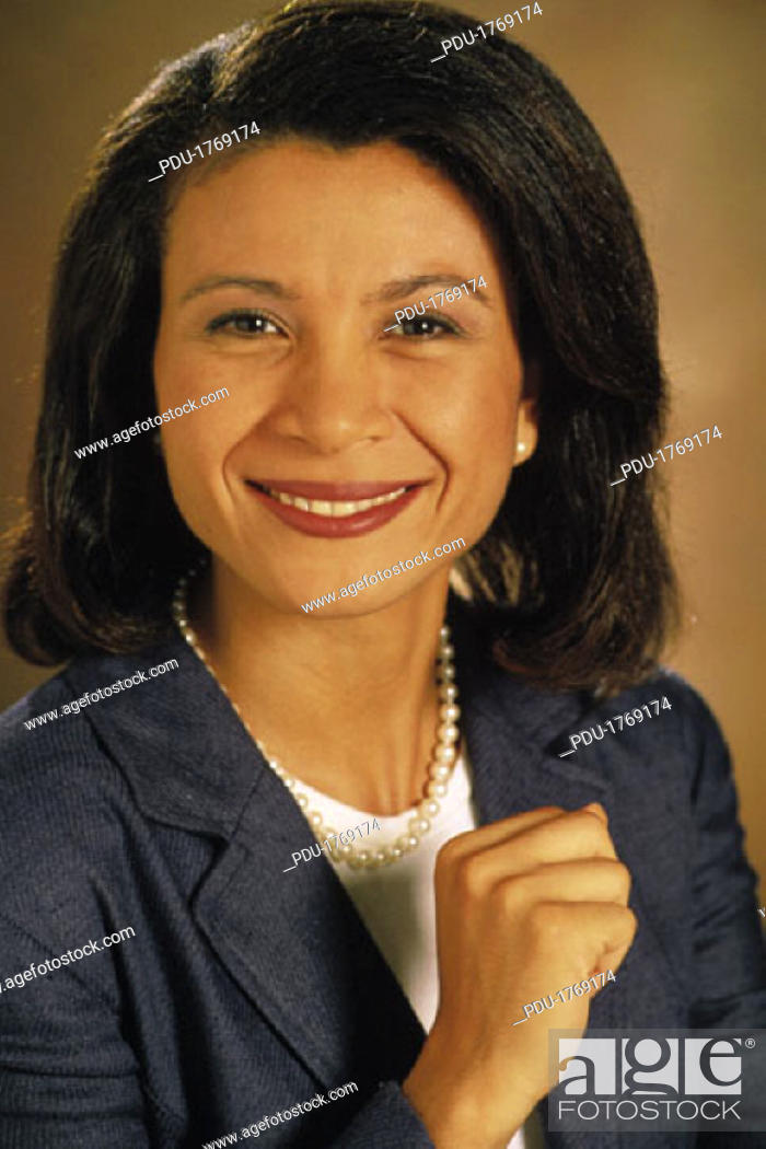 Stock Photo: Close up of businesswoman, portrait.
