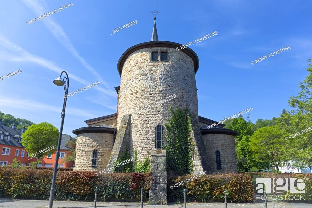 Stock Photo: Europe, Luxembourg, Diekirch, Saeul, Église Assomption de la Bienheureuse Vierge Marie (Church of the Assumption of the Blessed Virgin Mary).