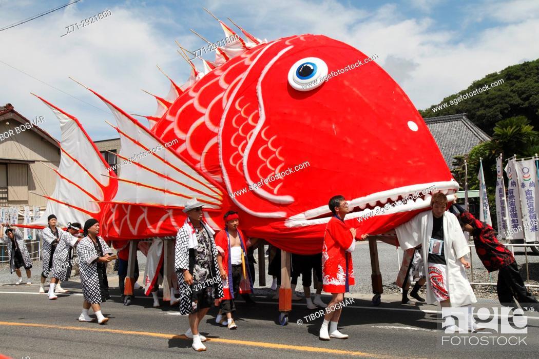 Stock Photo: Japan, Toyohama, Tai Matsuri, festival, people,.