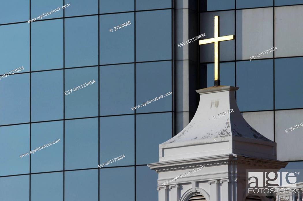 Stock Photo: Cross of church.