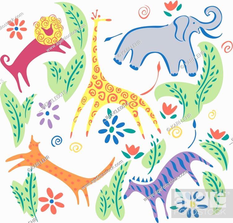 Stock Photo: Diverse wildlife.