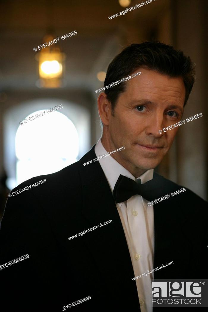 Stock Photo: Boomer man in a tuxedo.
