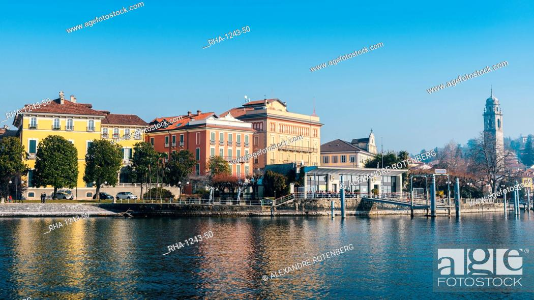 Stock Photo: The port area of Pallanzo, Lake Maggiore, Piedmont, Italian Lakes, Italy, Europe.