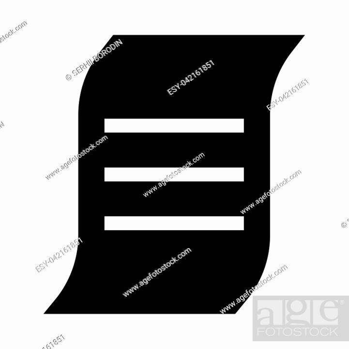 Stock Vector: Document it is black icon . Flat style.