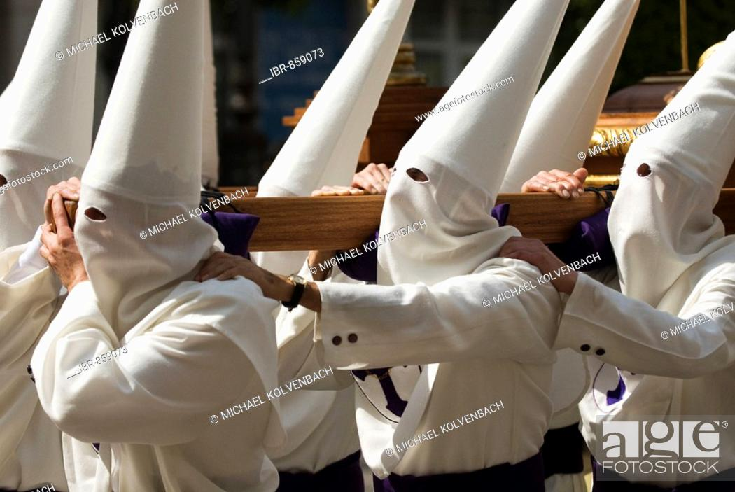 Stock Photo: Easter Procession in Crevillente, Murcia, Spain, Europe.