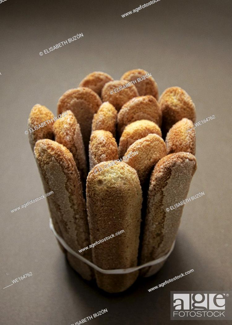 Photo de stock: Long biscuits.