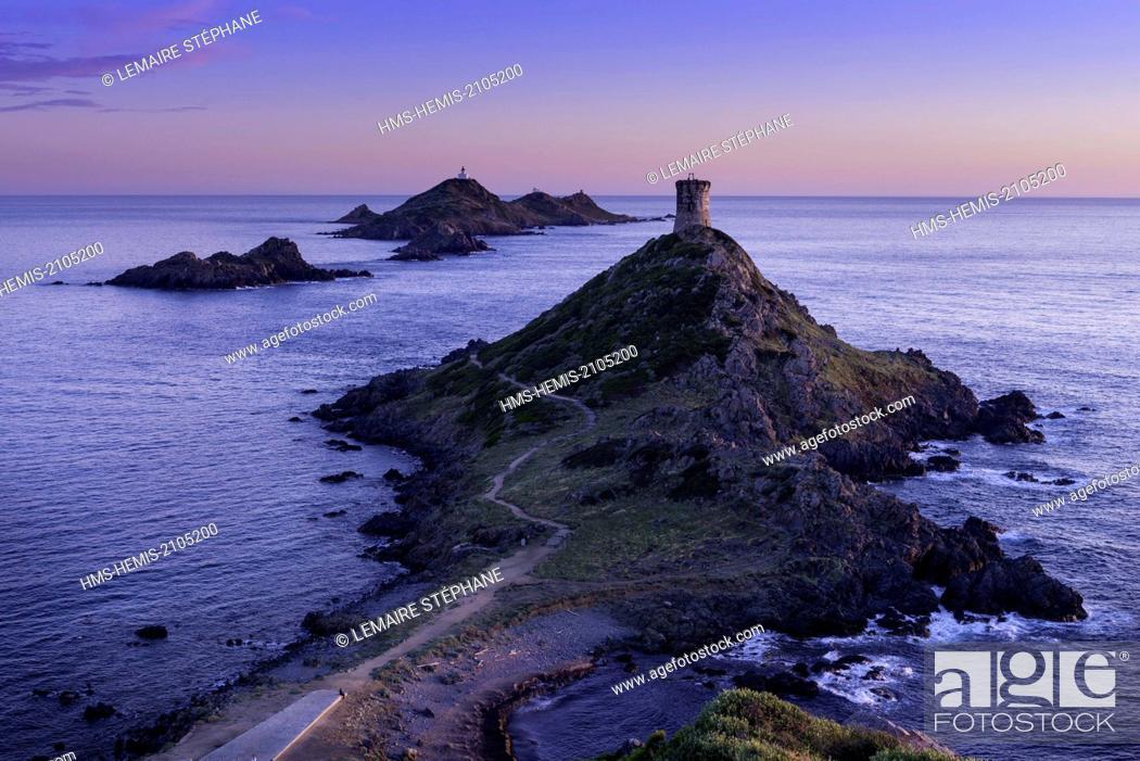 Stock Photo: France, Corse du Sud, Gulf of Ajaccio, Parata point, Sanguinary Islands, Mezzu mare, protected natural area.