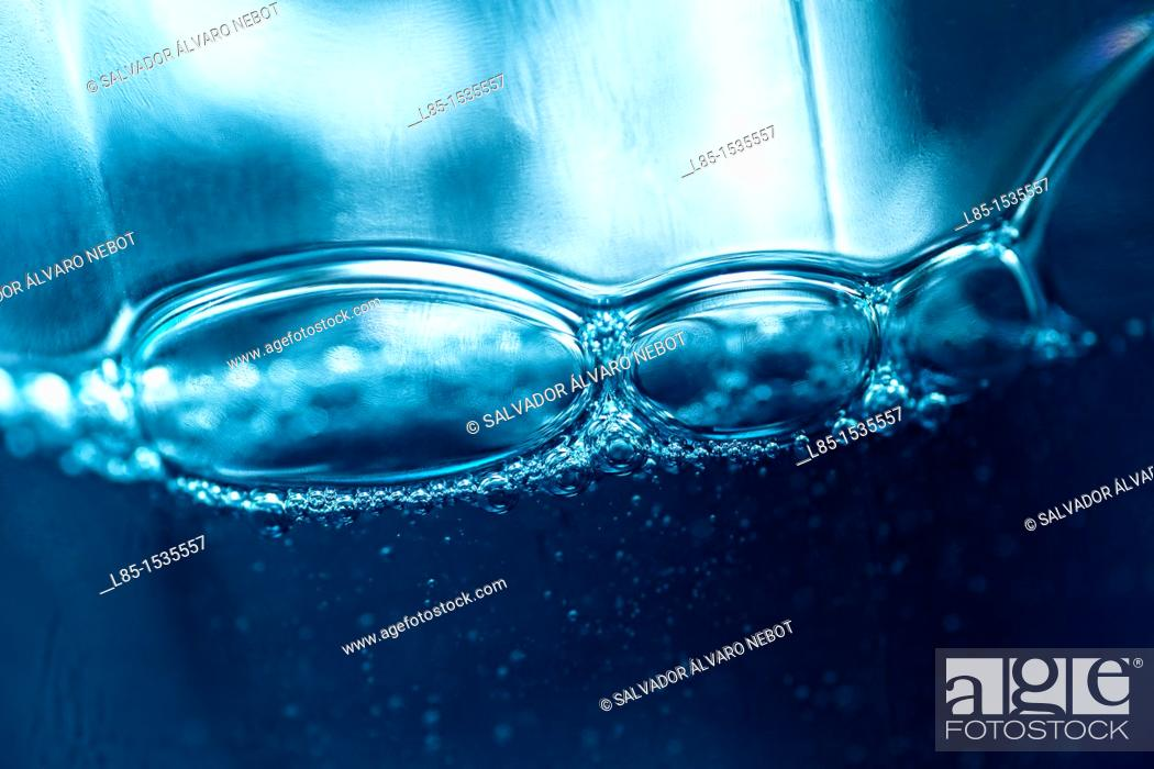 Stock Photo: Backlit bubbles.