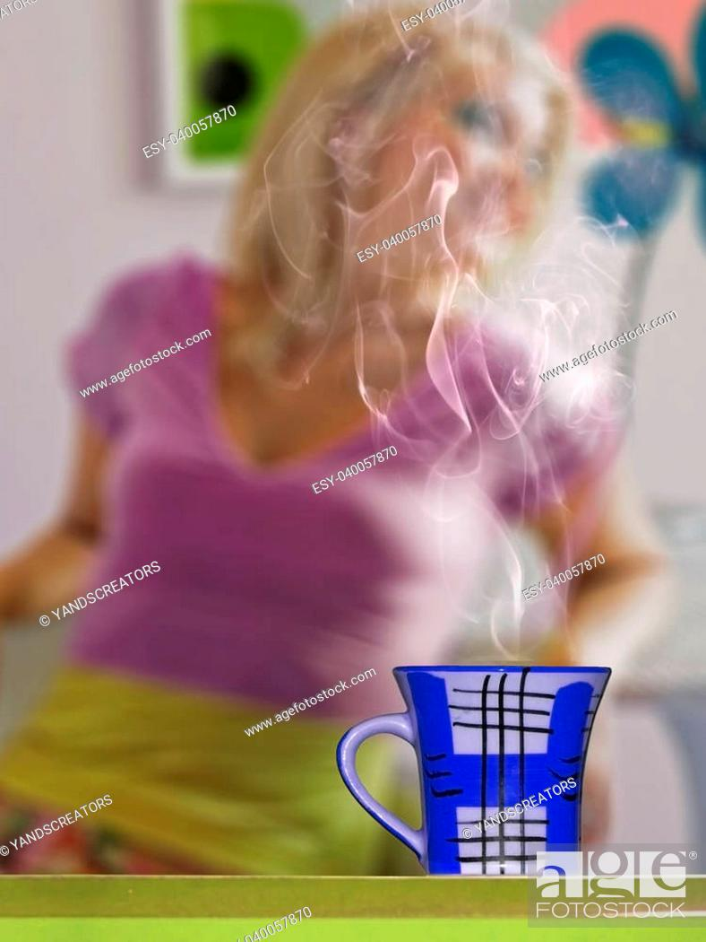 Stock Photo: Cup of Coffee, Concept.