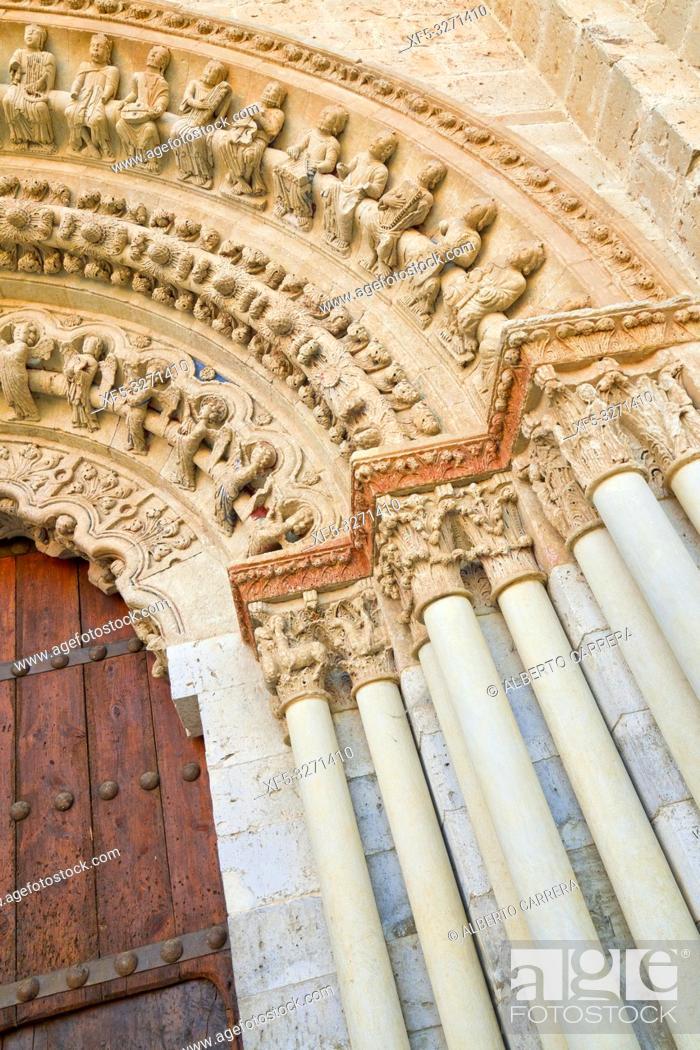 Imagen: Collegiate Church of Santa María la Mayor, Romanesque North Door, Romanesque Style, Toro, Zamora, Castilla y León, Spain, Europe.