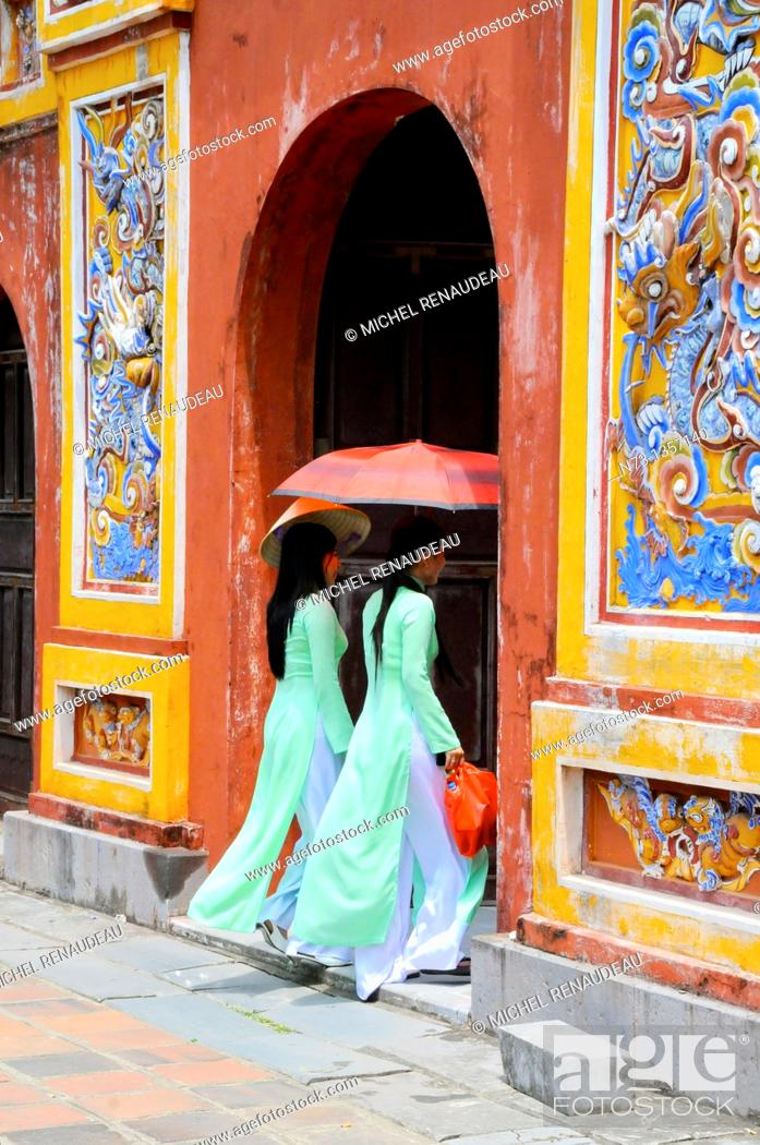 Stock Photo: Vietnam, Thua Thien Hue, Hue classified World Heritage by UNESCO, an imperial city,.