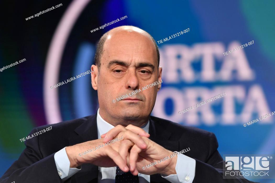 Porta Tv Lazio.Italian President Of Lazio Region Nicola Zingaretti During