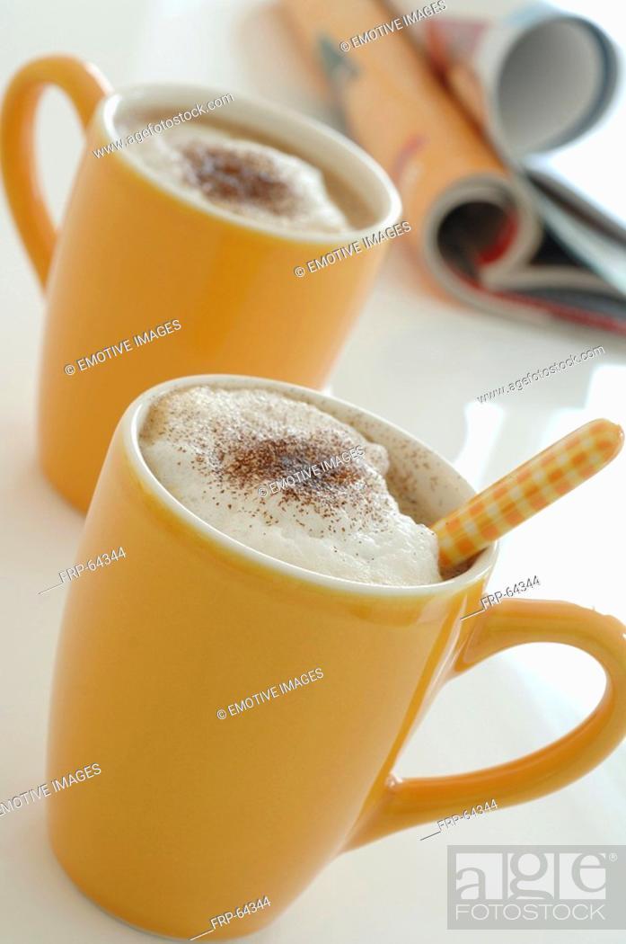 Stock Photo: Breakfast: Capuccino.