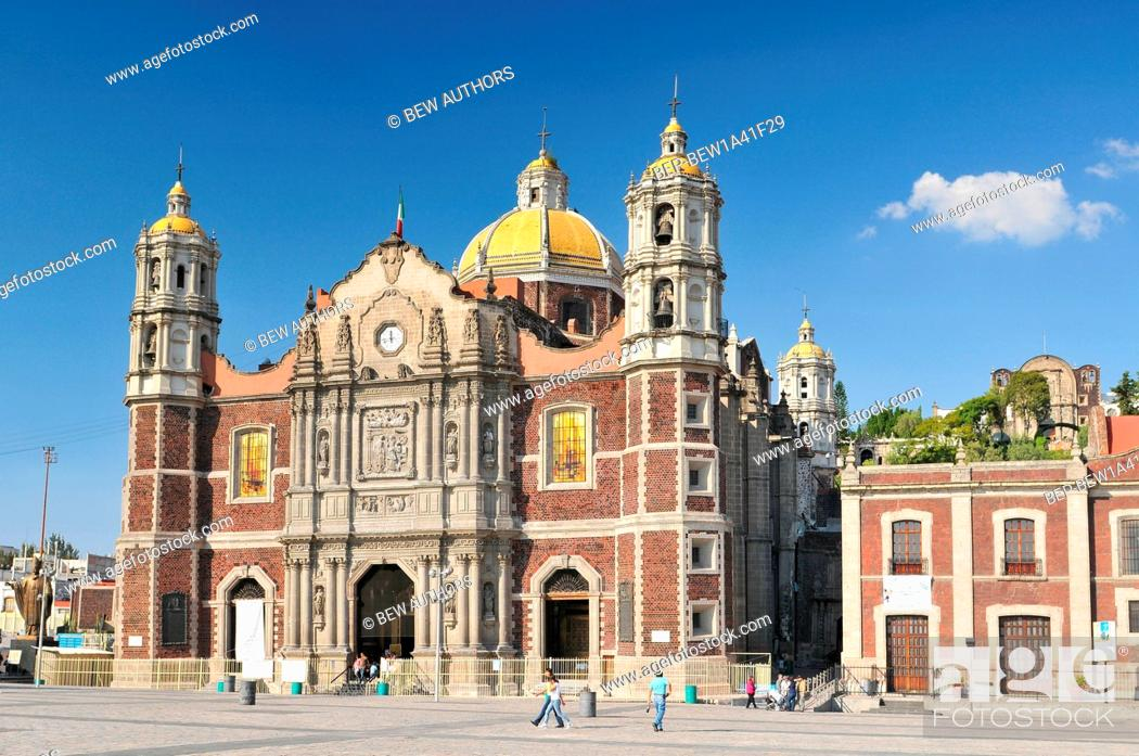 Stock Photo: Mexico, Mexico City, The Basilica of Our Lady of Guadalupe, roman catholic church.