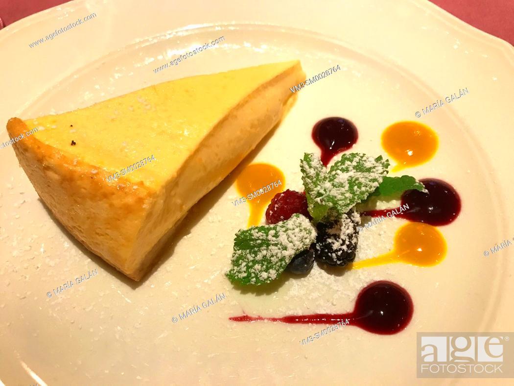 Stock Photo: Cheese cake.