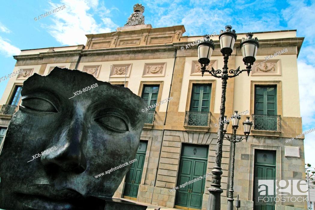Stock Photo: Guimera Theatre (19th century), Santa Cruz de Tenerife, Tenerife, Canary Islands, Spain.