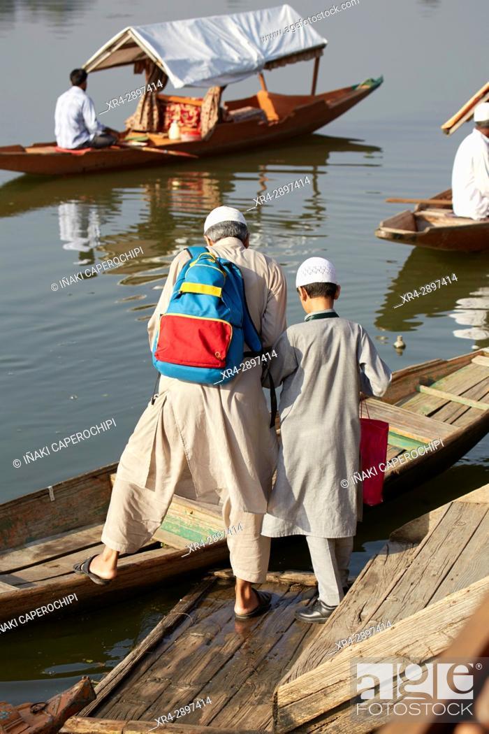 Stock Photo: Dal Lake, Srinagar, Jammu and Kasmir, India.