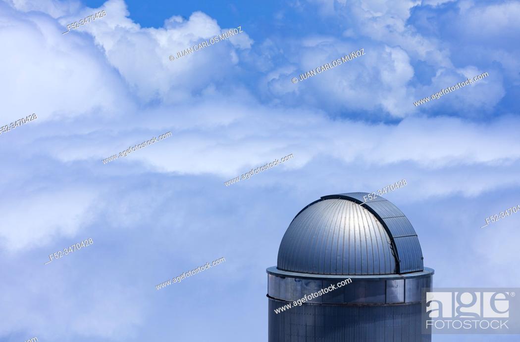 Stock Photo: The Observatorio Astrofisico del Roque de los Muchachos, El Paso and Garafia municipalities, La Palma island, Canary Islands, Spain, Europe.