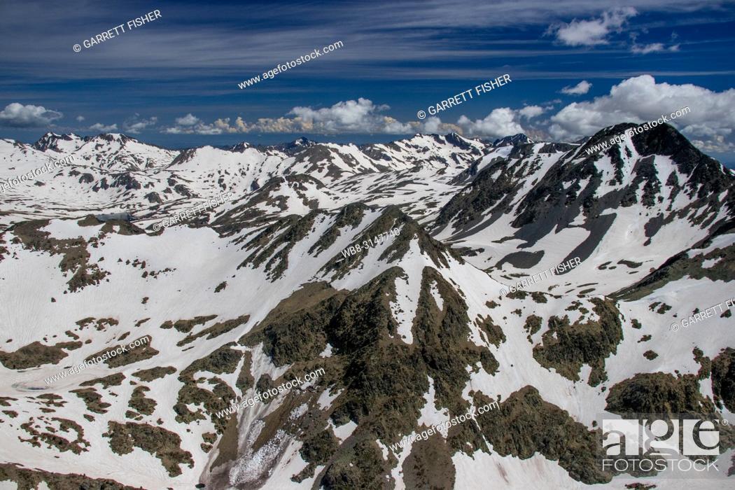 Photo de stock: Pic Carlit, Pyrenees, France - Aerial.