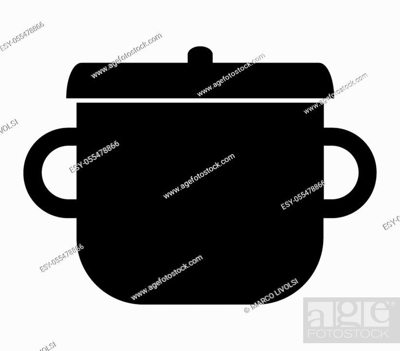 Stock Vector: pot on white background.