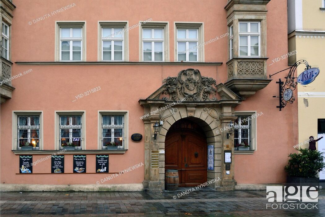 Stock Photo: Maximilianstrasse 33, Altes Rathaus - Old Town Hall now Kunstmuseum - Art Museum, Maximilianstrasse - main touristic promenade in old town, Bayreuth.
