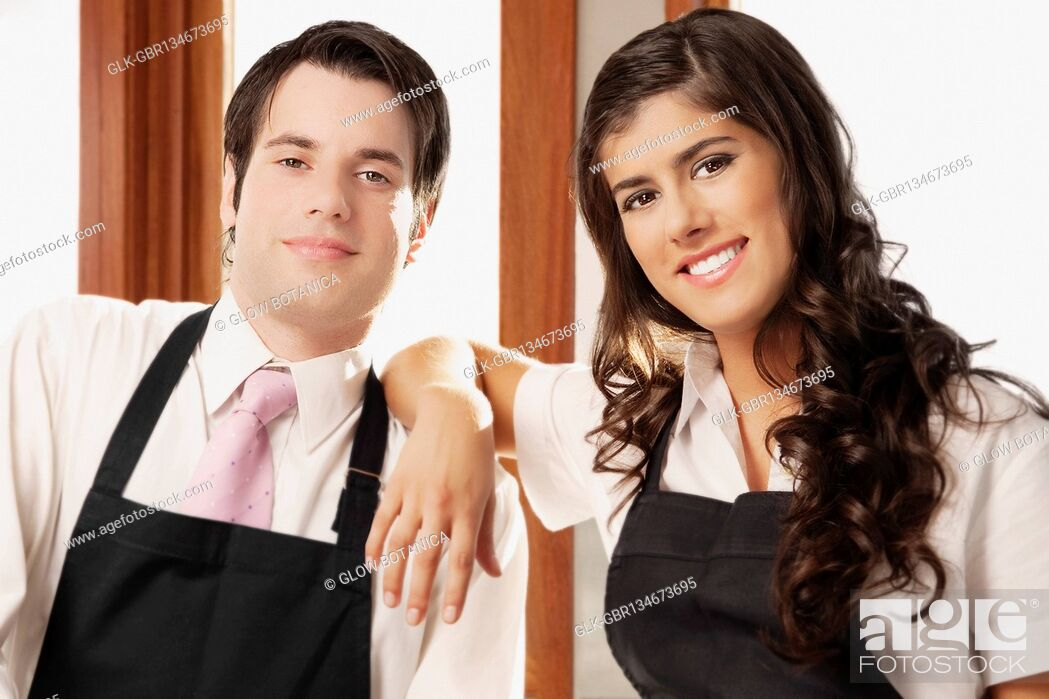 Stock Photo: Portrait of a couple smiling.