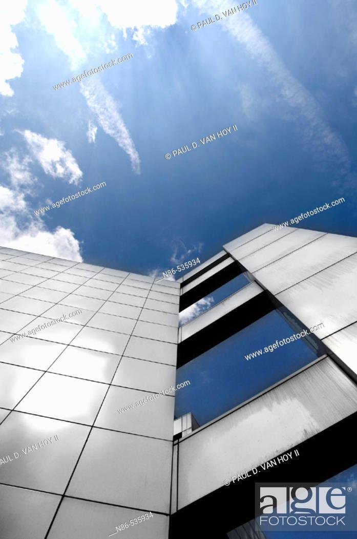 Stock Photo: Modern architecture, New Harmony. Indiana, USA.