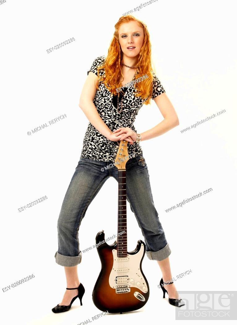 Stock Photo: in the rhythm of rock.