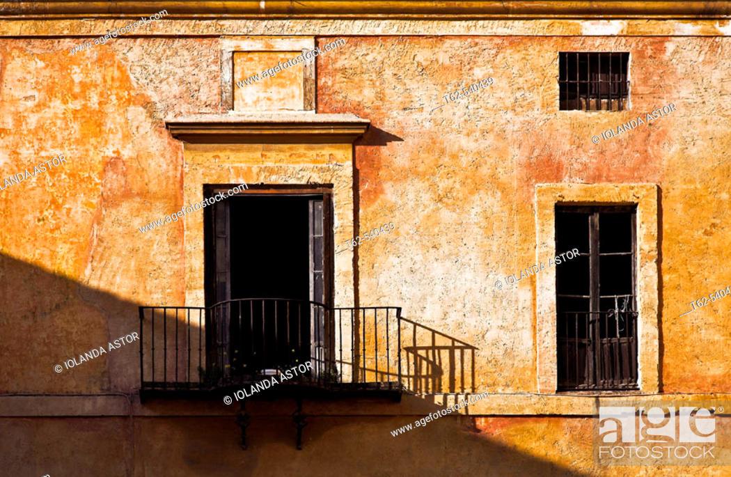 Stock Photo: House facade. Sevilla, Andalusia, Spain.