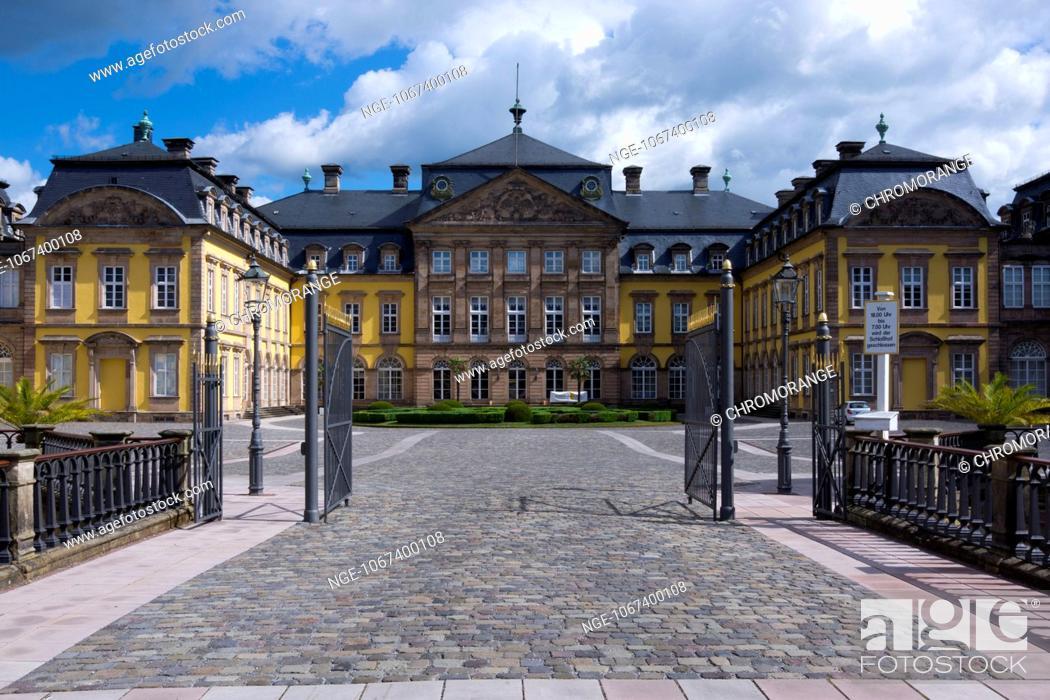 Stock Photo: Old Baroque Residenzschloss royal palace, Bad Arolsen, Hesse, Germany, Europe.