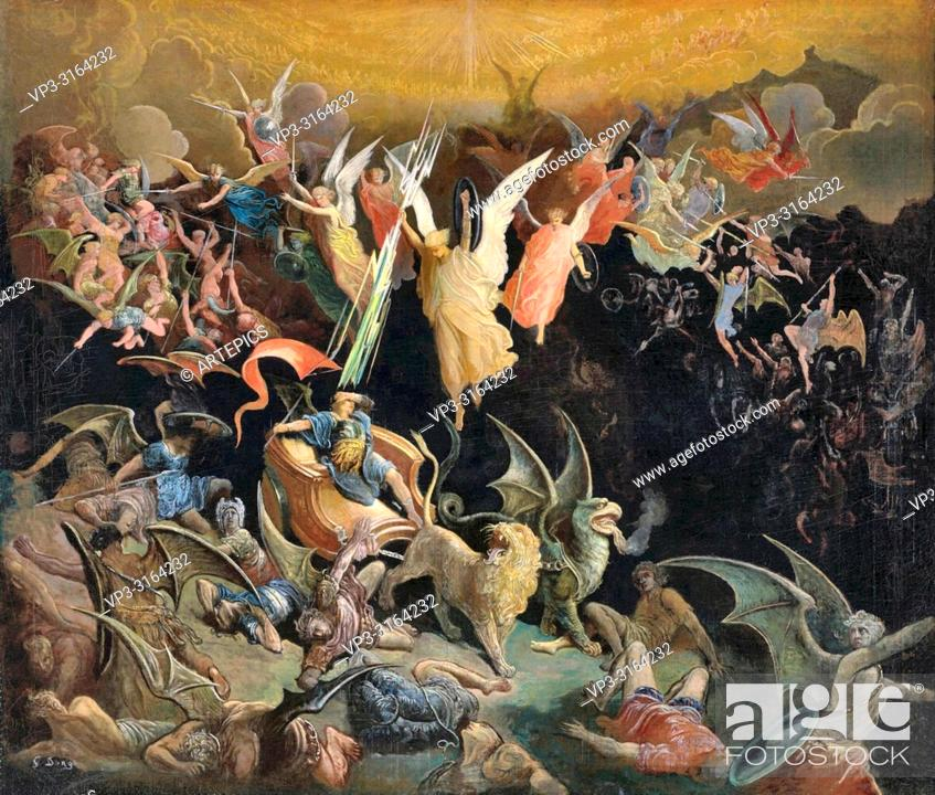 Stock Photo: Doré Gustave - the Fall of the Rebel Angels.