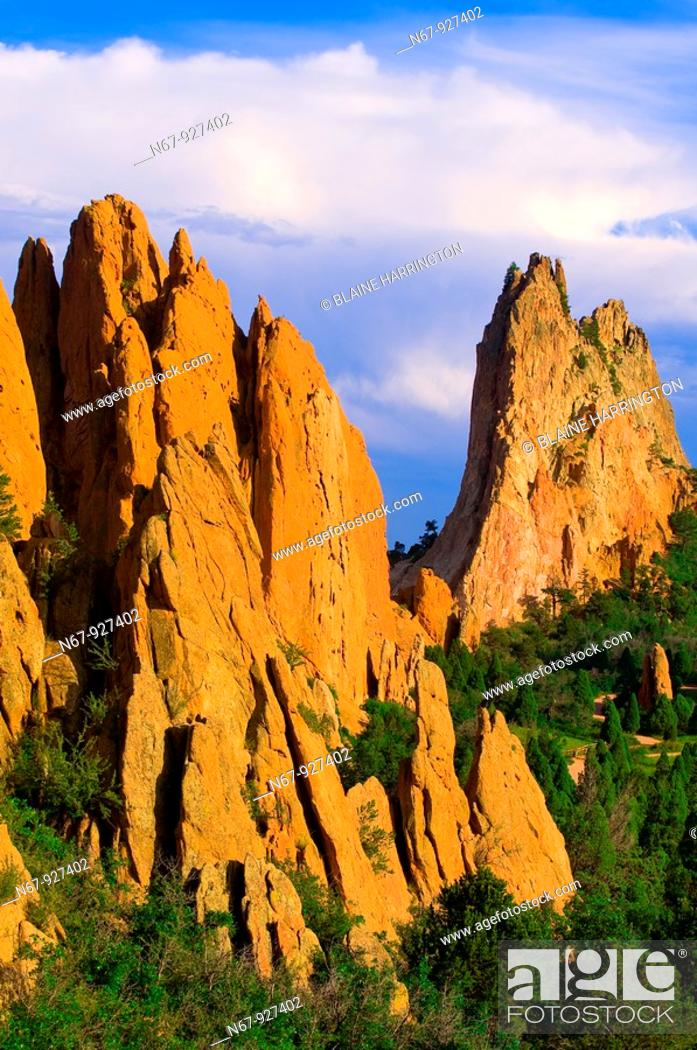 Stock Photo: Garden of the Gods, Colorado Springs, Colorado USA.