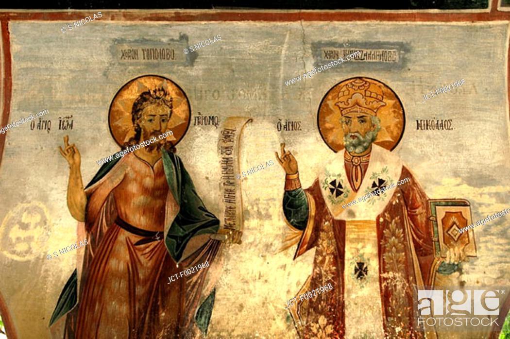 Stock Photo: Bulgaria, Batchkovo, monastery, mural.