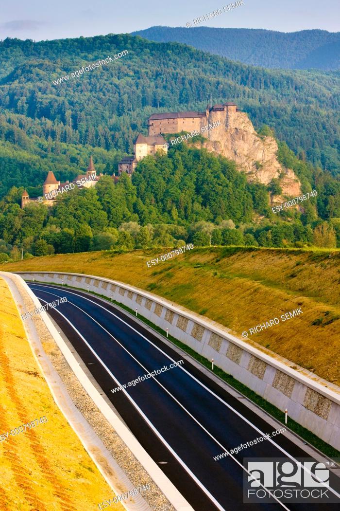 Stock Photo: Oravsky Castle, Slovakia.