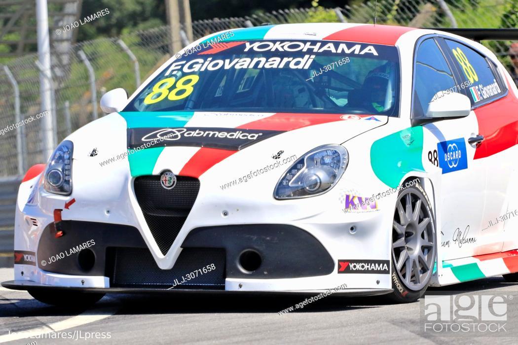 Stock Photo: WTCR 2018: Vila Real. Race of Portugal, Pratice Action. Giovanardi, Alfa Romeo Giulietta TCR, #88.