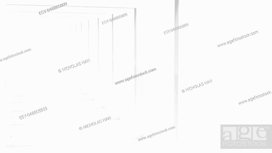 Photo de stock: The 3d rendering of White Clear Blank Subtle Geometric Abstract.