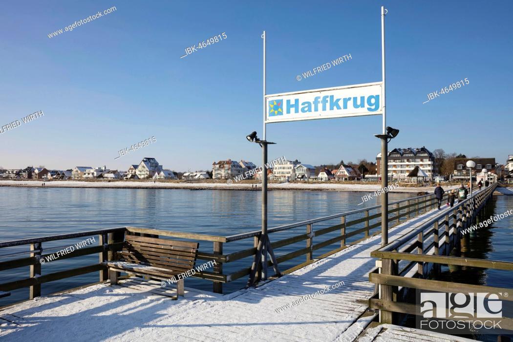 Stock Photo: Pier, baltic sea coast, Haffkrug, Scharbeutz, Lübeck Bay, Schleswig-Holstein, Germany.