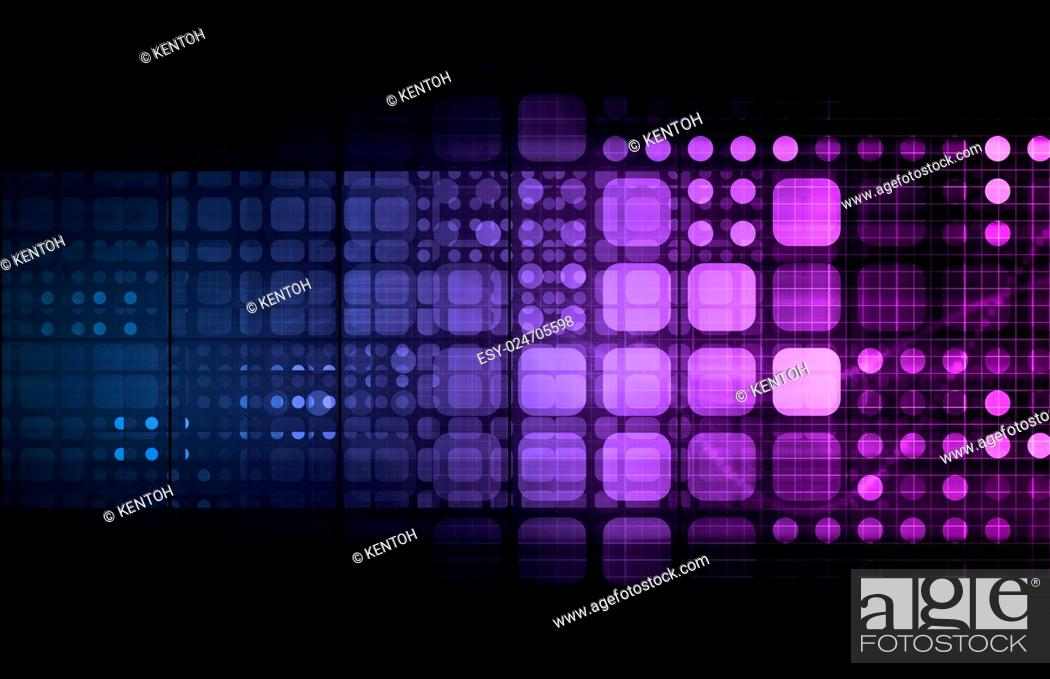 Stock Photo: Abstract Tech Background with Business Technology Art.
