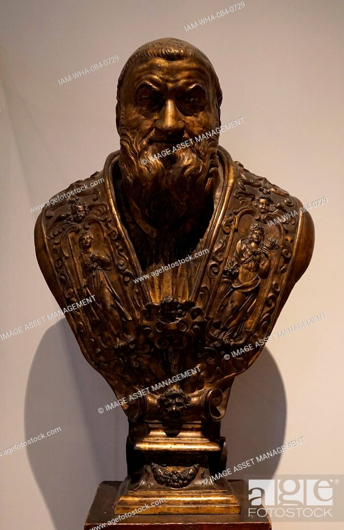 Stock Photo: Bust of Pope Sixtus V (1521-1590) Italian Pope. Dated 16th Century.